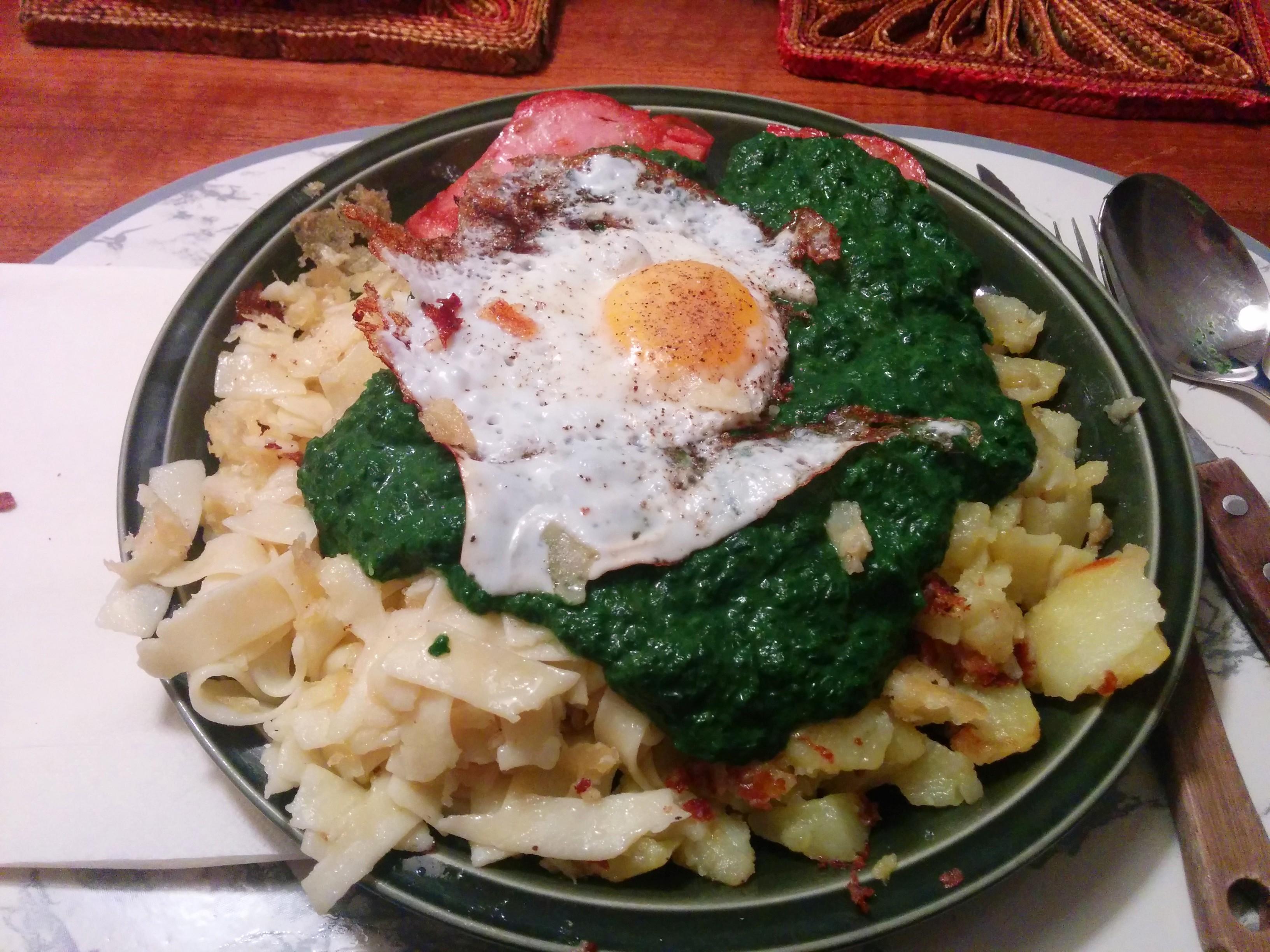 https://foodloader.net/nico_2014-06-04_zwiebelfleischkaese-spinat-nudeln-bratkartoffeln-spiegelei.jpg
