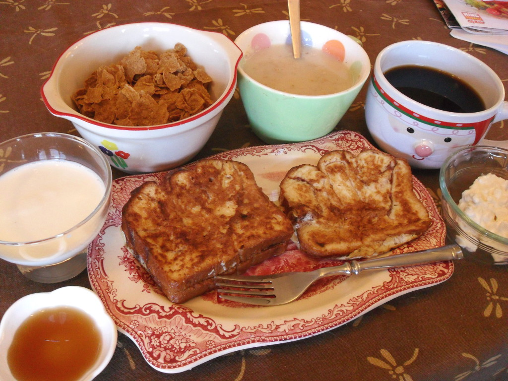 http://foodloader.net/sweetie_2013-11-15_goat_milk__bran_flakes__farina__coffee__cottage_cheese__nutella_frenchtoast.jpg
