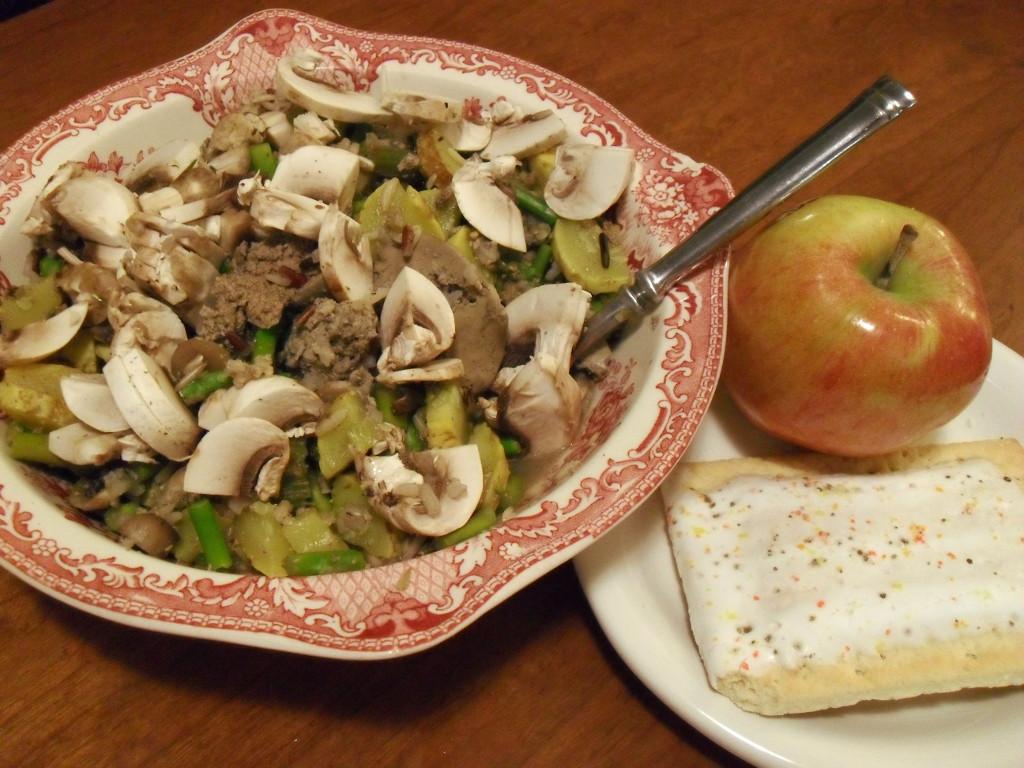 http://foodloader.net/sweetie_2013-12-05_wild_rice__chicken_livers__mushrooms__asparagus__zucchini__apple__pop-tart.jpg